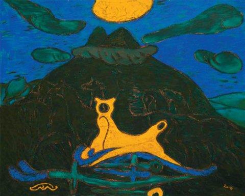 «Иярле тау (Шатман)», Талгат Масалимов, 2004-2006, оргалит, темпера