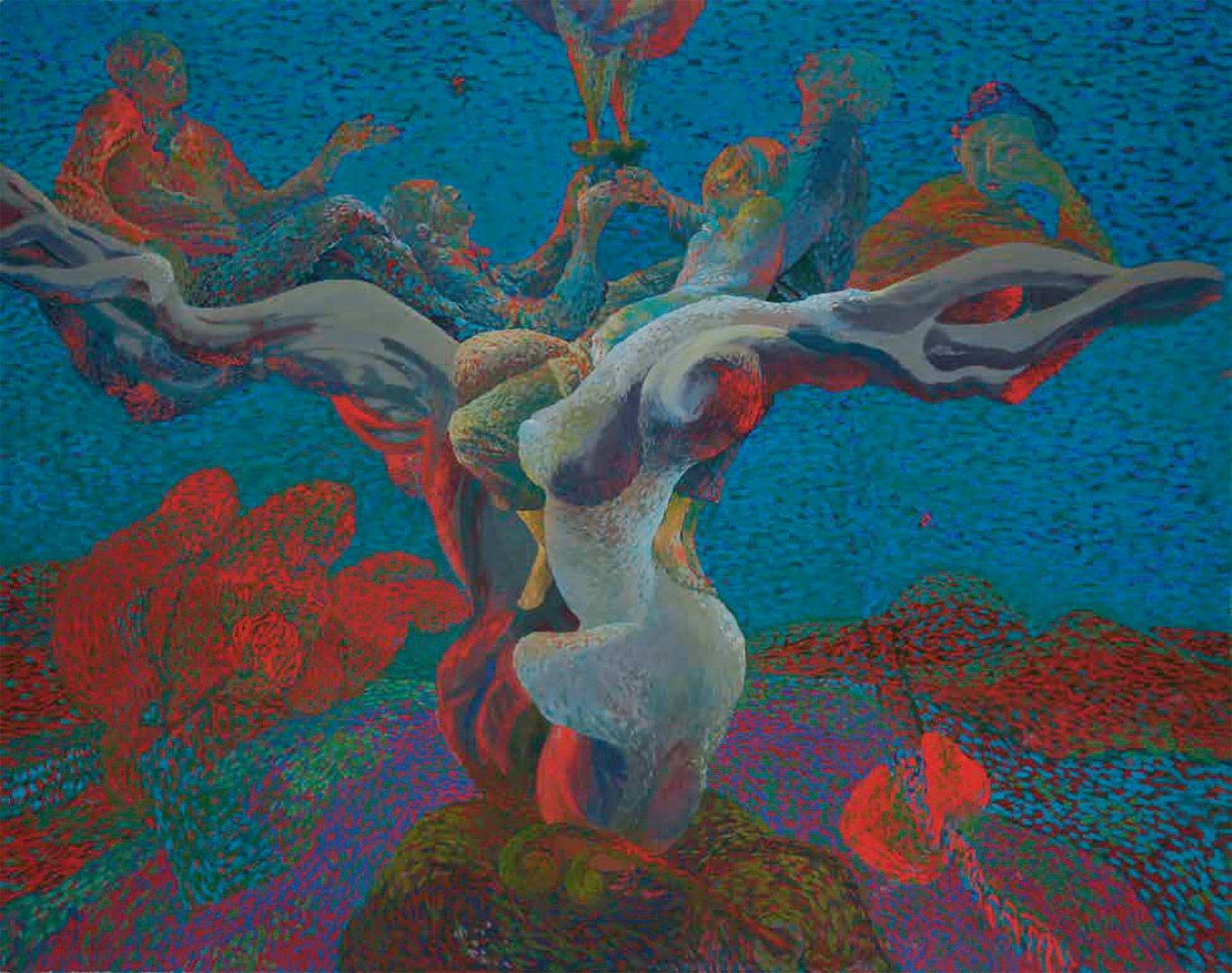 «Ночь (Шатман)», Талгат Масалимов, 2004, оргалит, темпера