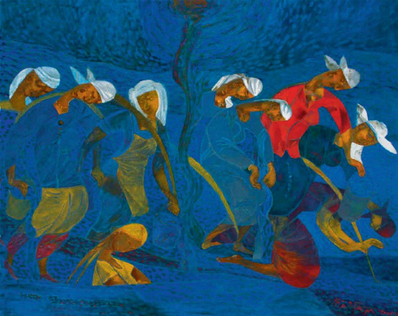 «Су юлы (Шатман)», Талгат Масалимов, 2005, оргалит, темпера