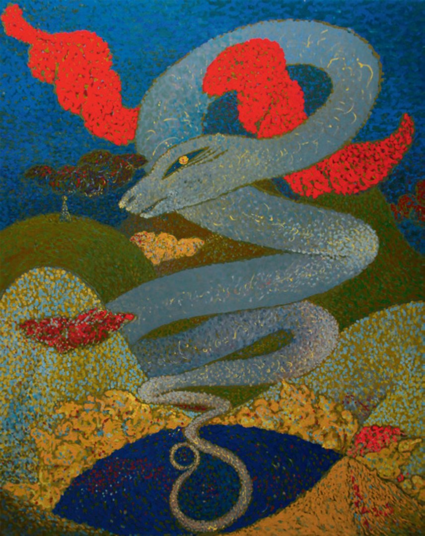 «Яшел куль (Шатман)», Талгат Масалимов, 2006, оргалит, темпера