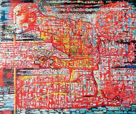 «Посвящение», Джалиль Сулейманов, 2013, холст, масло