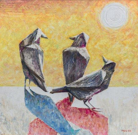 «Белая ворона», Вагиз Шайхетдинов, 2008, холст, масло
