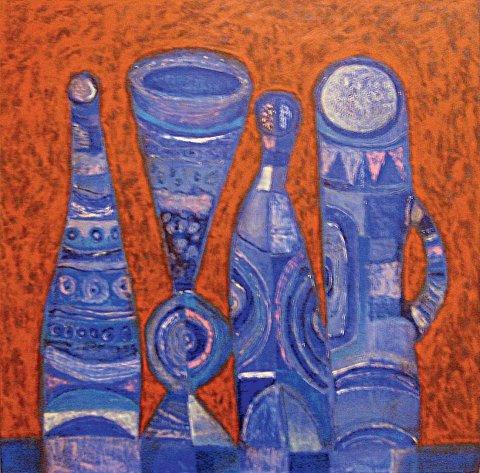 «Четыре сосуда», Радик Гарифуллин, 2004, холст, масло