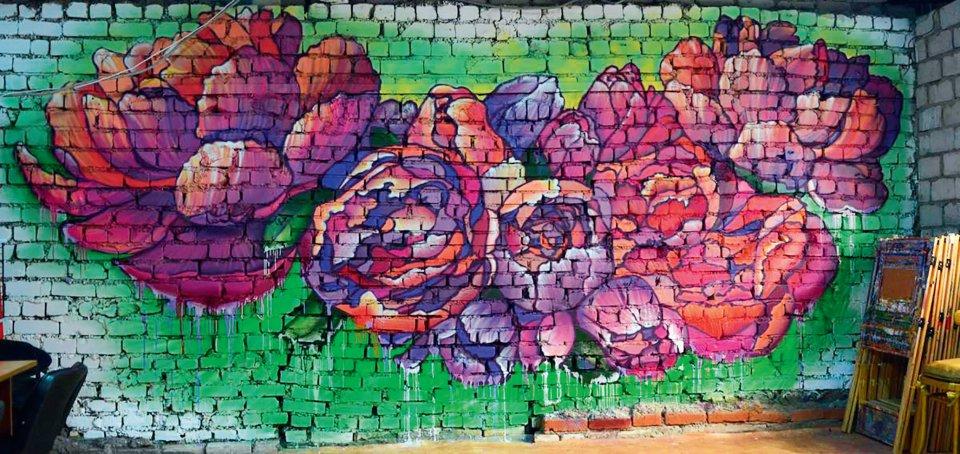 Роспись художественной студии, Артур Лукьянов, 2016, аэрозоль