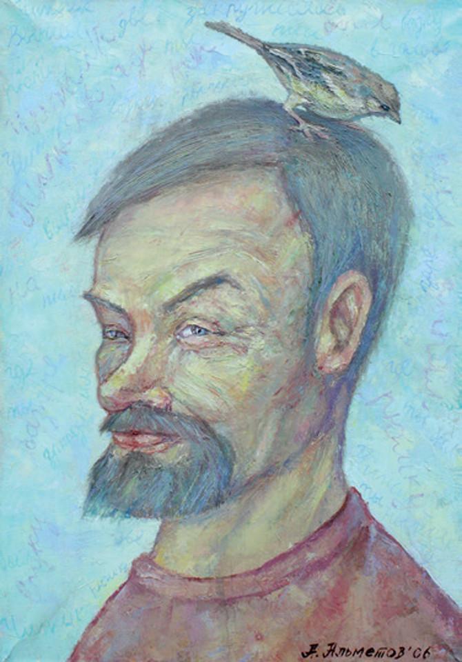 «Портрет художника А. Королевского», Айдар Альметов, холст, масло