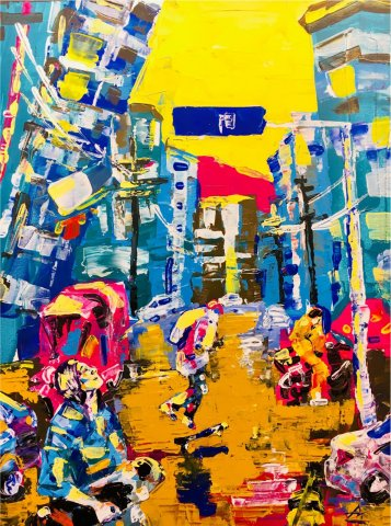 «Гуйян - город солнца», Анастасия Зубкова, 2019, холст, акрил, 50х70