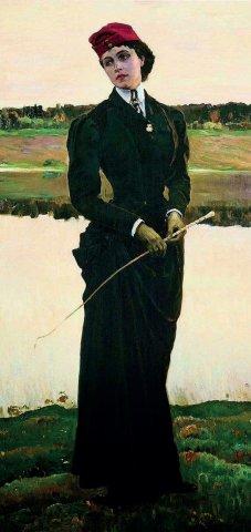 «Амазонка» (портрет дочери Ольги), Михаил Нестеров (годы жизни 1862–1942 гг.), 1906