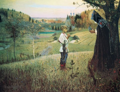 «Видение отроку Варфоломею», Михаил Нестеров (годы жизни 1862–1942 гг.), 1889–1890