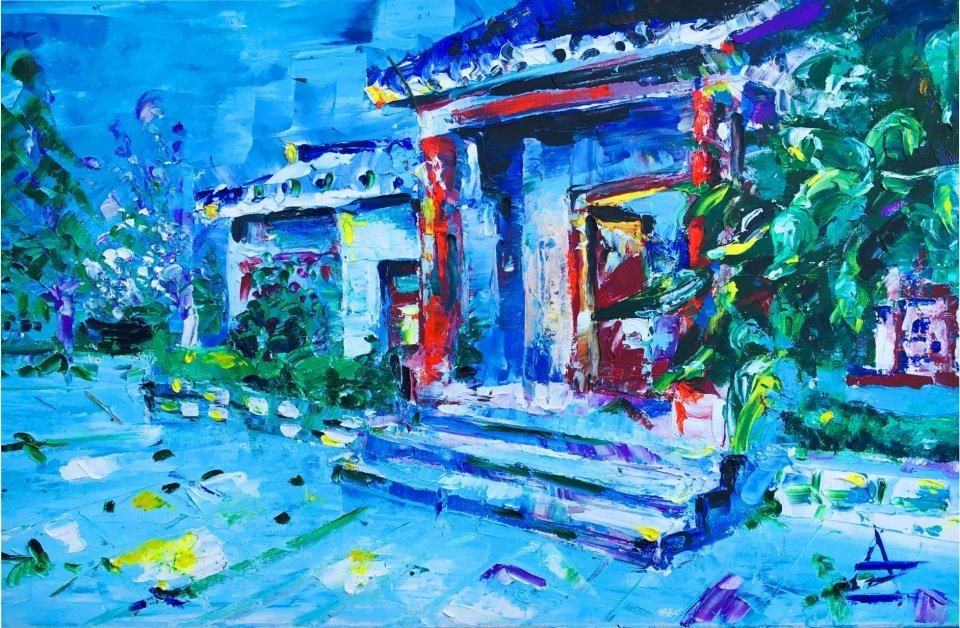 «Дом на грушевой горе», Анастасия Зубкова, 2019, холст, масло, 50х70