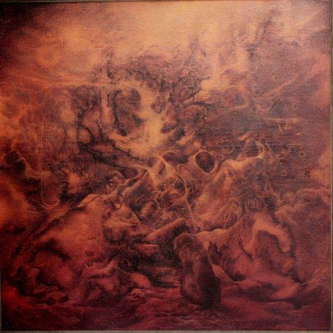 «Конец начала», Александр Журкин, 1990, холст, картон, масло