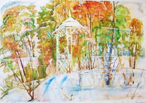 «Беседка», Юлия Куклина, 2004, акварель