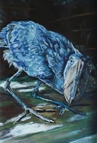 «Ворона», Аластар Маквизард, 2014, холст, масло