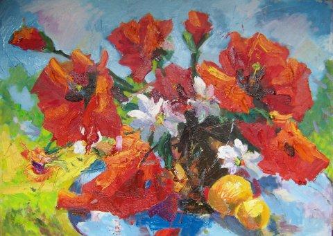 «Маки», Юлия Куклина, 2010, холст, масло