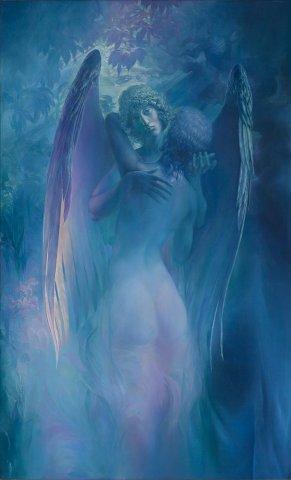 «Ангел», Александр Журкин, 1999, холст, масло