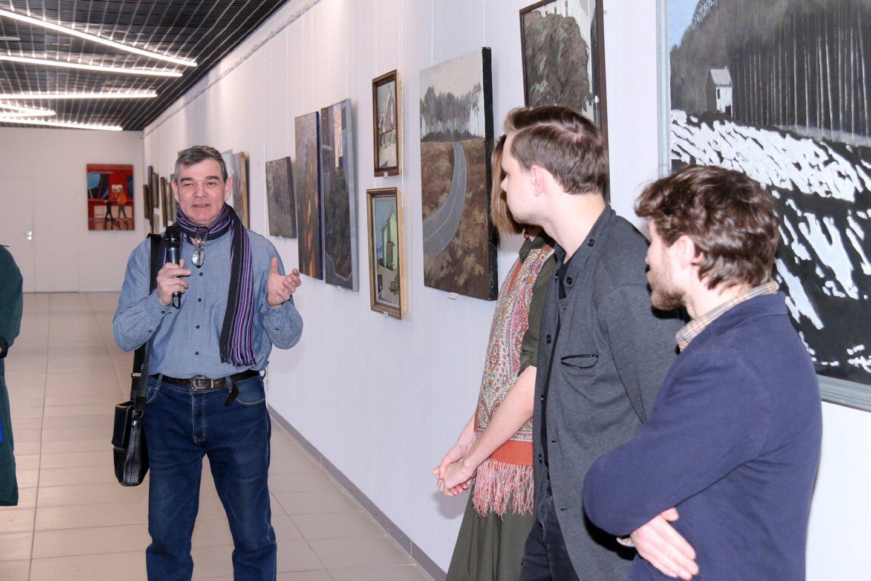 Открытие выставки «Взгляд»: художники Данис Ахметов, Лидия Кириллова и Артём Новосёлов
