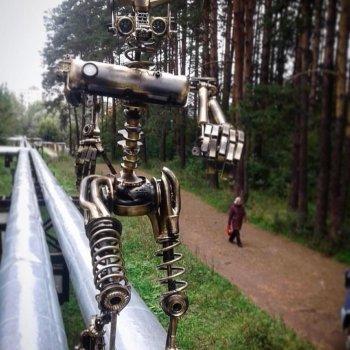 «Бегущий робот по трубе», Айдар Минимуллин