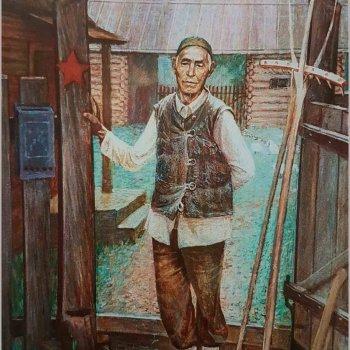 «Летнее утро. Портрет ветерана войны М. Магадеева», Файзрахман Исмагилов