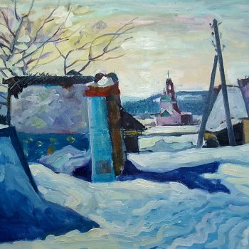 «Вид на церковь со двора», Михаил Кузнецов