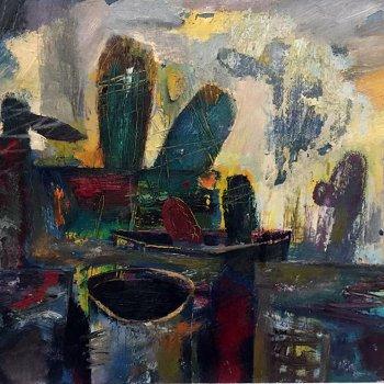 «Натюрморт с кактусами», Хайдар Кульбарисов