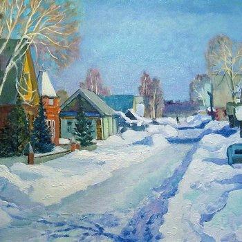 «Деревенская улица зимой 2», Михаил Кузнецов