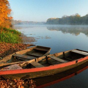 «Осеннее утро на реке», Юрий Пичугин