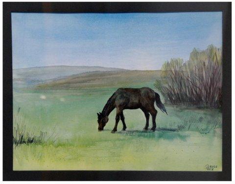 «Потомки Салавата отступать не умеют»: дебютная выставка молодого художника Алии Кутловой