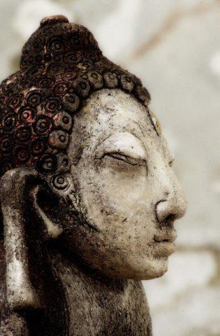 «Маленький Будда» (коллекция «Архаика»), Ляля Галеева, 2003, шамот, акрил