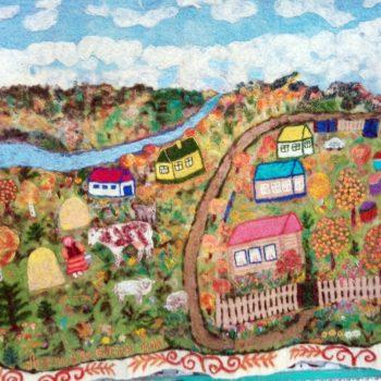 «Золотая осень в родной деревне Упканкуль», Фарида Хуснитдинова