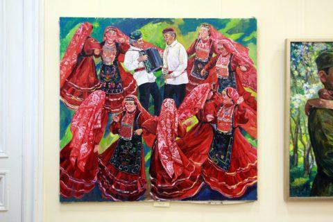 «Счастье быть вместе»: выставка художника Веры Фроловой в Национальной библиотеке им. А.-З. Валиди Республики Башкортостан