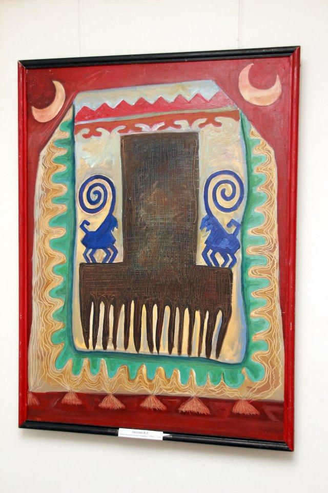 «Навстречу Фольклориаде»: персональная выставка графика и живописца, заслуженного художника Республики Башкортостан Фарита Ергалиева