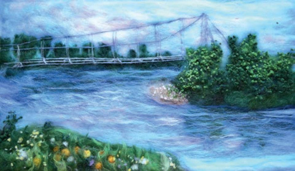 Декоративная картина «Река Белая», Галина Терентьева, 2018, шерсть