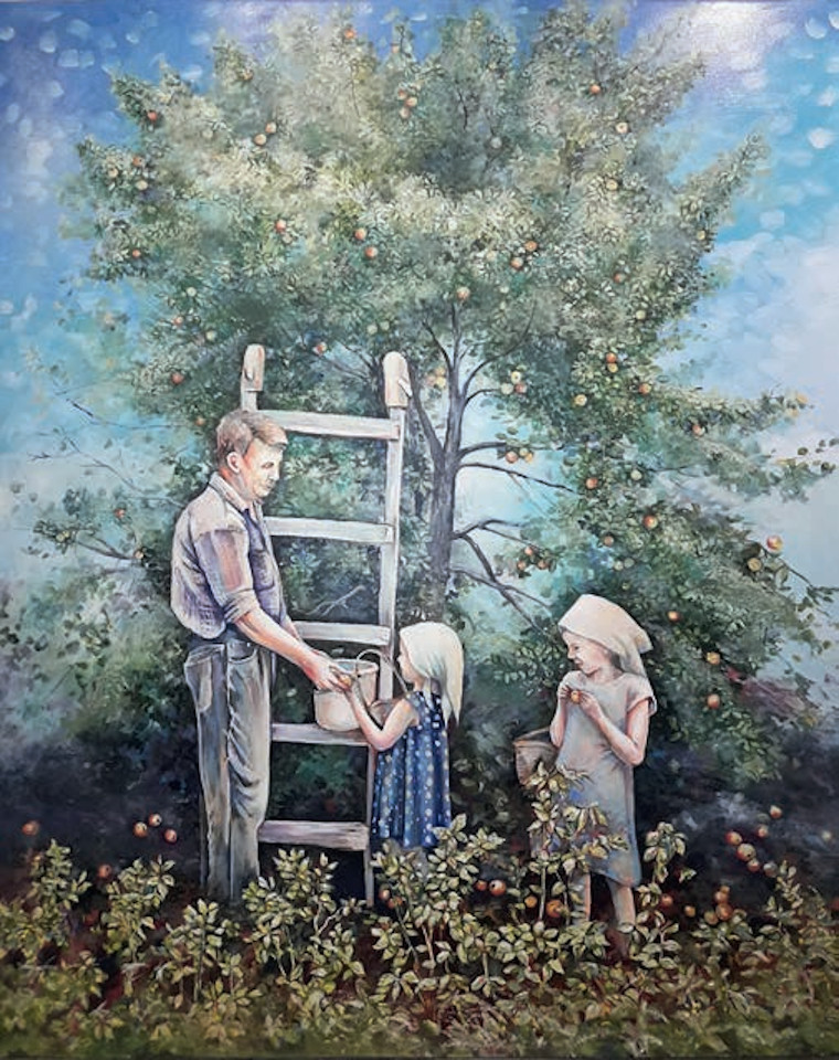 «Небо в яблоках», Вера Шаригина, 2020, холст, масло