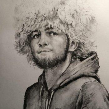 «Портрет Хабиба Нурмагомедова», Руслан Камалов
