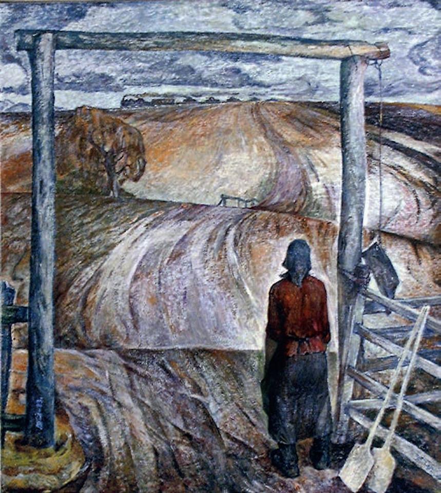 «Тревожный 41-й», Виктор Пегов (годы жизни 1938-2018), 1983, холст, масло, Фонд БГХМ им. М.В. Нестерова