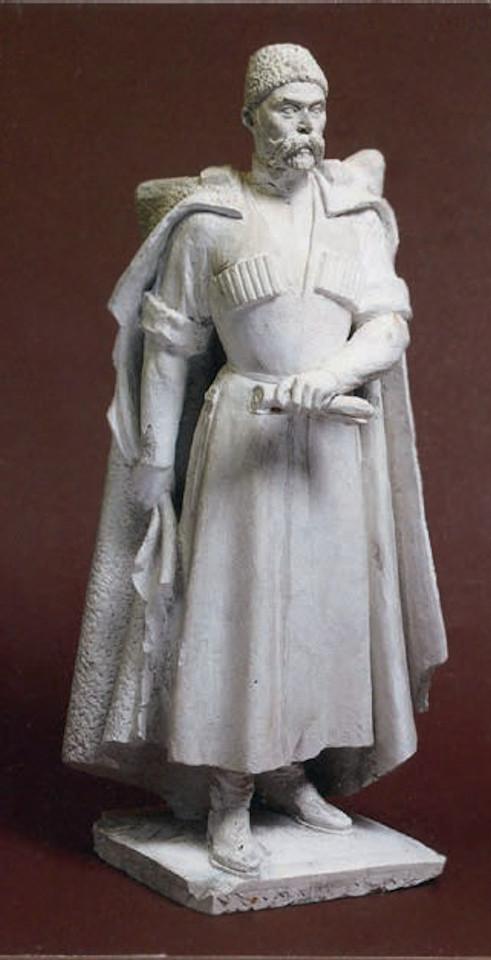 Модель памятника «Коста Хетагуров», Сосланбек Тавасиев (годы жизни 1894-1974), начало 1950-х, гипс