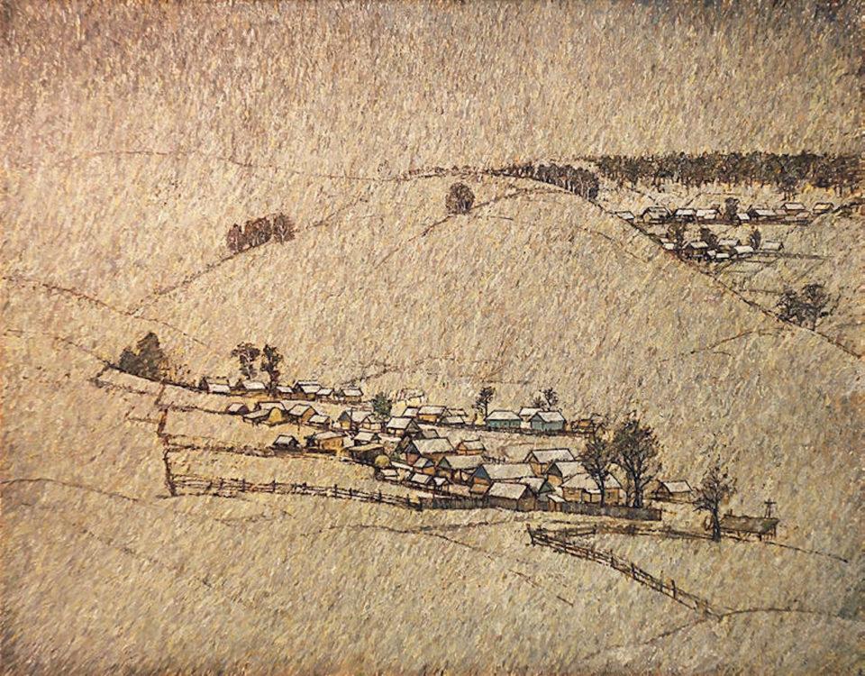 «Зимний день», Анвар Кашаев, 2012, холст, масло