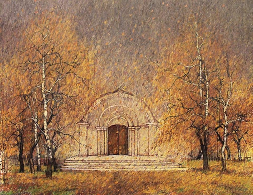 «У входа в храм», Анвар Кашаев, 2019, холст, масло